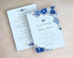 light blue wedding invitations floral antique flowers botanical garden wedding invitations shown