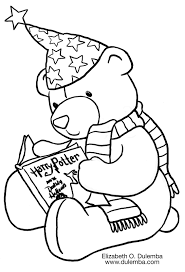 coloring u0026 activity pages harry potter teddy bear coloring page