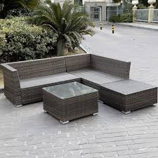 Patio Furniture Without Cushions Giantex 6pc Patio Sectional Furniture Set Deck Outdoor