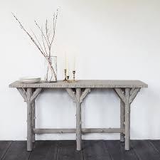 faux bois console table terrain