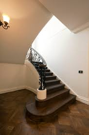 Curved Handrail Classic Stairs French Provincial Staircase Traditional