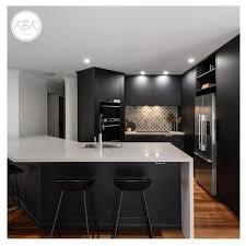 custom kitchen cabinet doors brisbane polytec black woodmatt doors and panels are used for the