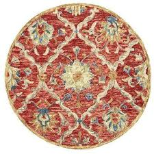 Round Red Rugs Round Southwestern Area Rugs Rugs The Home Depot