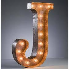 24 u201d letter j lighted vintage marquee letters rustic buy