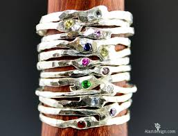 stackable birthstone rings for mothers mothers jewelry michael alari design