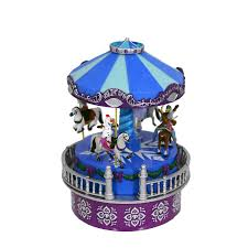 mr christmas frozen mini animated carousel by mr christmas