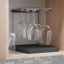 kohler wine glass drying rack the container store