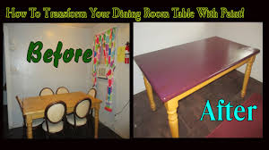 how to transform your dining room table with paint youtube