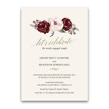engagement party invites floral engagement party invitations burgundy fall wedding