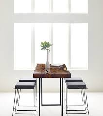 Standing Height Table by Natural Wood Standing Height Table Ambience Doré