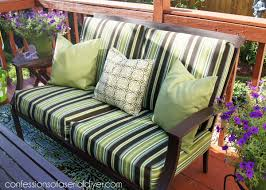 Reupholster Patio Furniture Cushions Sew Easy Outdoor Cushion Covers Part 1 Confessions Of A Serial