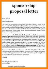 4 sponsorship proposal template free cv for teaching