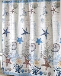 Sea Themed Shower Curtains Antigua Nautical Shower Curtain Coastal Fabric Shower Curtain On