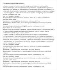 Exceptional Cover Letter Executive Assistant Cover Letter 11 Free Word Documents