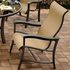 Agio 7 Piece Patio Dining Set - agio majorca outdoor sling dining chair with inserted woven