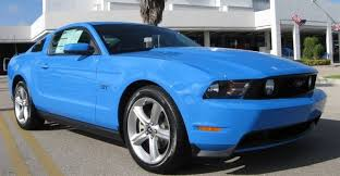 Blue And Black Mustang 2010 Mustang Gt
