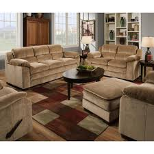 simmons upholstery tan bixby overstuffed sofa shop living room