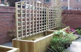 Wooden Planter With Trellis Decking Paving U0026 Landscaping Oxford