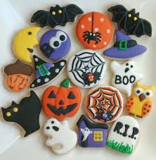 halloween sugar cookies mini or large decorated with royal