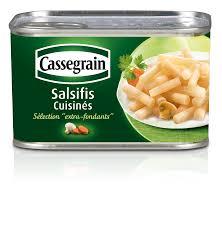 cuisiner les salsifis conserve de salsifis cuisinés sélection fondants cassegrain