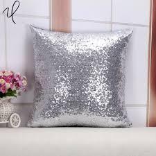 online get cheap sequin silver cushion cover aliexpress com