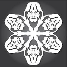 how to make star wars snowflakes with paper scissors and the