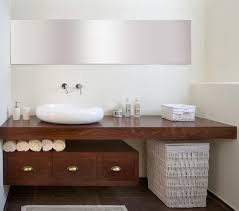 Modern Display Pedestal Bathrooms Modern Bathroom With Pedestal Sink And Tree Trunk