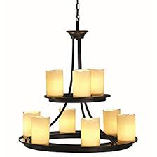 faux candle light fixtures contemporary allen roth 9 light oil rubbed bronze chandelier faux