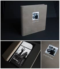 Black Leather Photo Album Luxe Leather Cover With Photo Cutout Album Cover Pinterest