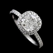 halo engagement ring settings diamonds cushion shape halo modern style engagement ring setting
