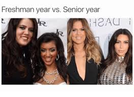 Senior Year Meme - freshman year vs senior year r seniors meme on astrologymemes com