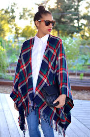 allergic to vanilla plaid cape for wine country