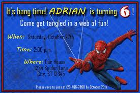 Free Printable Invitation Cards Printable Spiderman Invitation Card