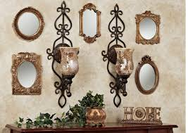 Mosaic Wall Sconce Decorating Your Wall With Accent Mirrors Touch Of Class