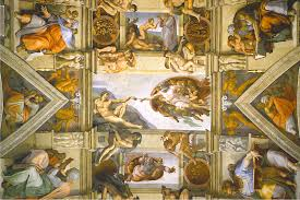 Ceiling Art Comics In Visual Arts The Sistine Chapel Ceiling By Michelangelo