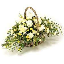 basket arrangements funeral flowers flower display basket arrangement flowers