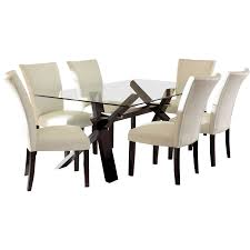 7 Piece Glass Dining Room Set Table Overwhelming Glass Dining Table Glass Dining Table And