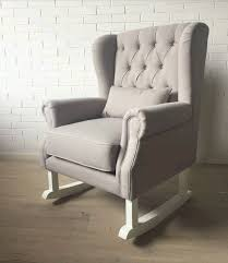 Fabric Rocking Chair For Nursery by Grey Convertible Fabric Tufted Linen Rocking Chair Baby Nursery