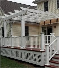 Trex Lighting Backyards Chic Shadetree Retractable Fabric Canopy On Trex
