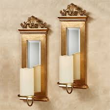 Gold Wall Sconces Gold Acanthus Mirrored Wall Sconce Set