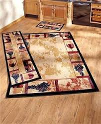 decorative wine grape themed nonskid area accent or runner rug