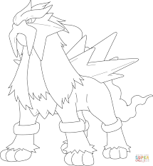 entei pokemon coloring page free printable coloring pages
