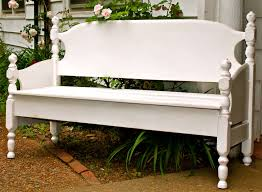 build a garden bench from a bed