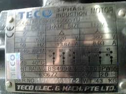 how to read motor nameplate