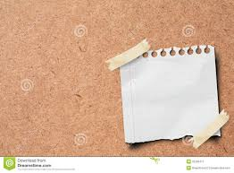 stick paper note paper stick on wooden board stock photo image of memory