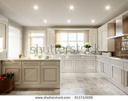 Modern And Classic Interior Design Modern Elegant Luxurious Kitchen Interior Design Stock
