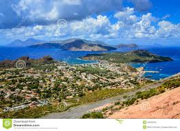 Sicily Italy Map Landscape View Of Lipari Islands In Sicily Italy Royalty Free