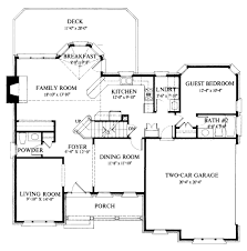 Calculating House Square Footage Colonial Style House Plan 4 Beds 3 50 Baths 2400 Sq Ft Plan 429 33