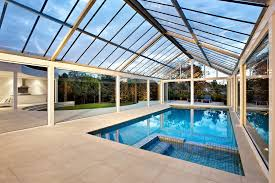 Outdoor Glass Room - pool pump cover pool contemporary with yard glass cover