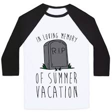 in loving memory items in loving memory of summer vacation baseball tees human
